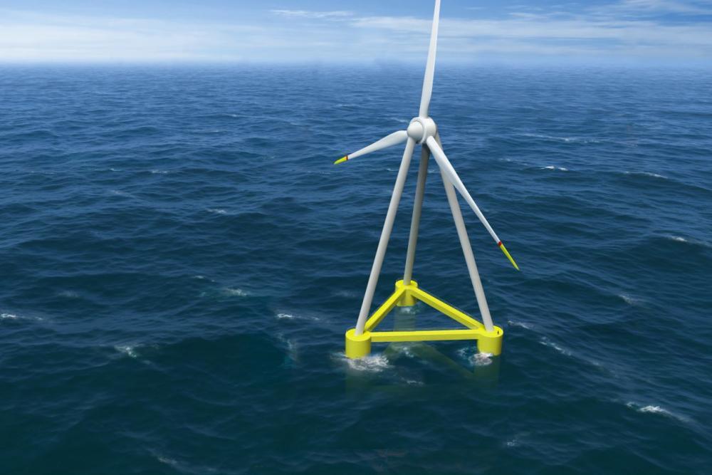 L'éolienne flottante à l'échelle 1/10 ème du concept 12MW EOLINK est opérationnelle.