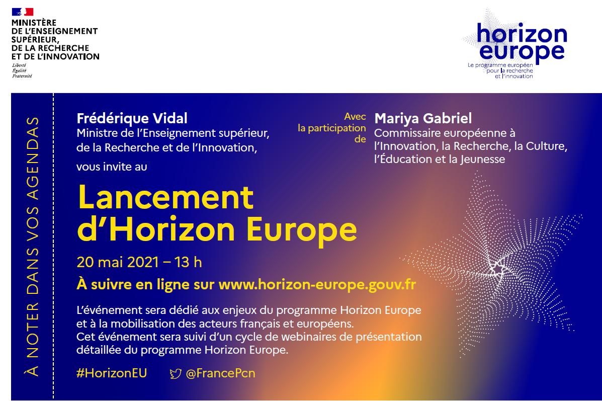 Evénement de lancement du programme Horizon Europe en France