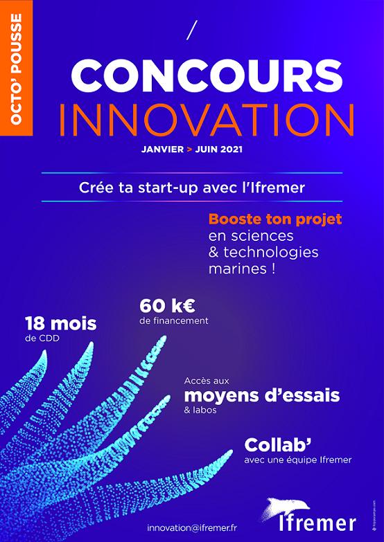 Lancement concours d'innovation Octo'pousse - Crée ta startup à l'Ifremer