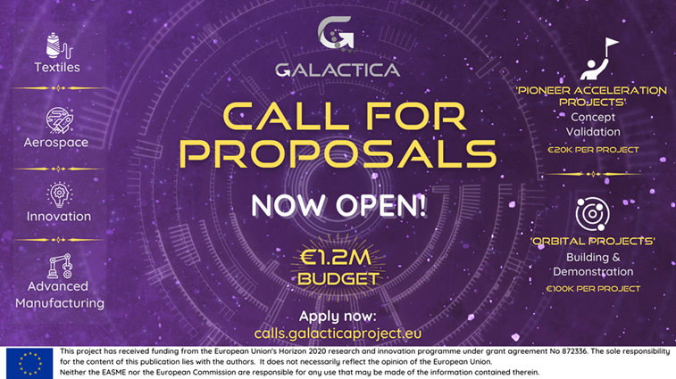 Appel à projets - GALACTICA - Textile- Aérospatial- production manufacturière- innovation