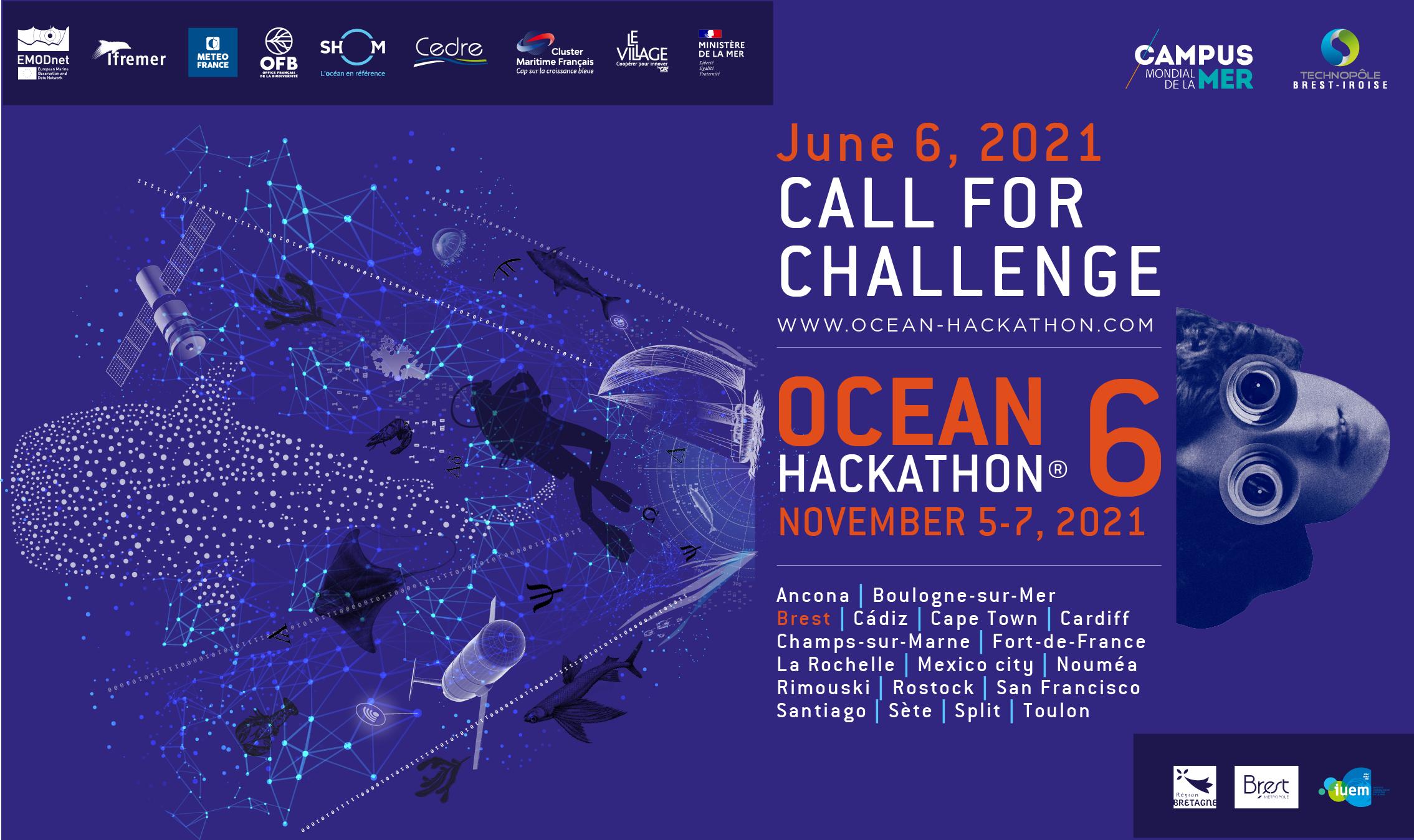 Appel à défis ouvert ! Ocean Hackathon 2021