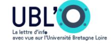 La newsletter de l'UBL'O