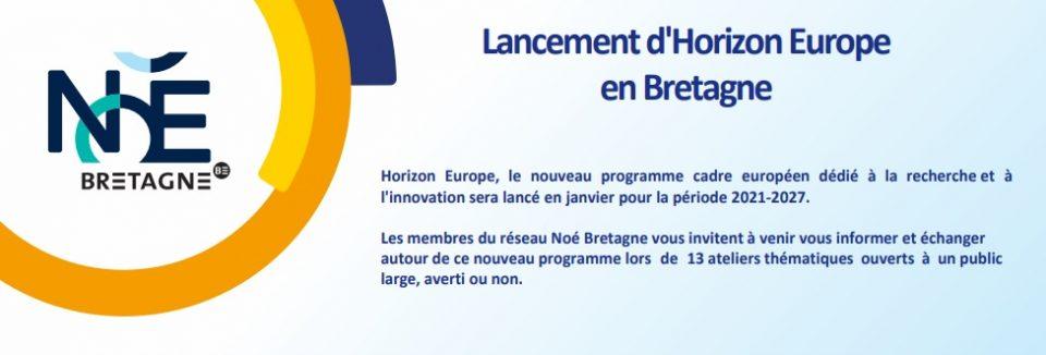 HORIZON EUROPE expliqué en 13 ateliers thématiques | On note les dates !